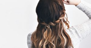 Easy Hairstyle - Faux waterfall braid