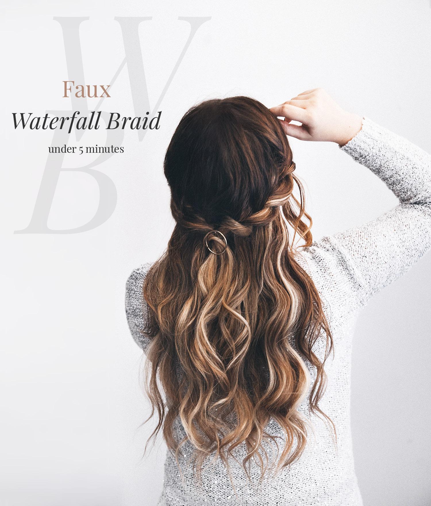 DIY: Faux Waterfall Braid Tutorial