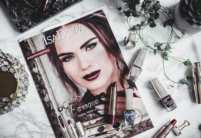 Flatlay with IsaDora Boho Baroque Holiday Makeup 2016