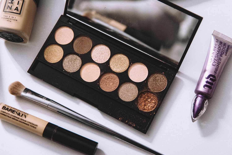 Makeup Flatlay with Sleek Makeup