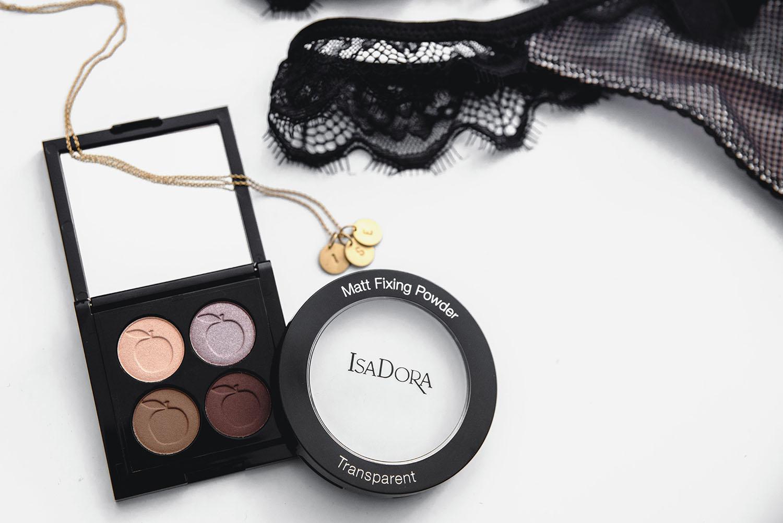Eyeshadow Quartet from Idun Minerals + IsaDora Matt Fixing Powder