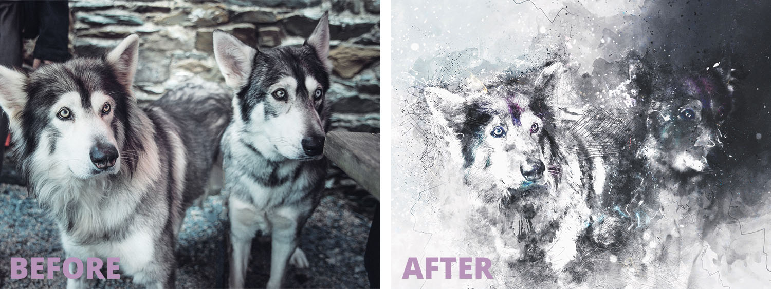 Before & after: Photo to artwork / Före och efter: Foto till konstverk