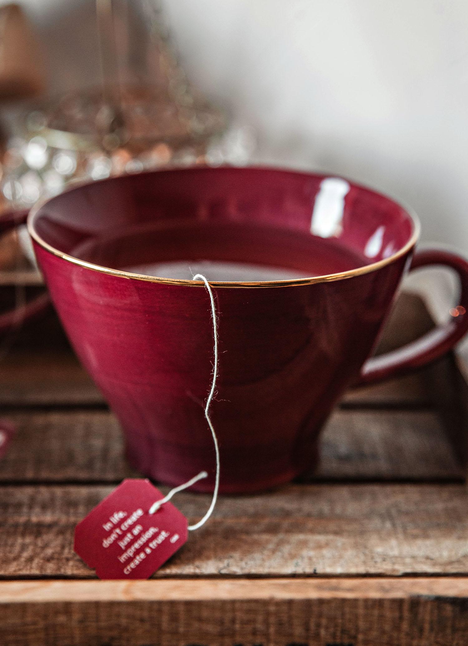 Red Tea Cup from Indiska & Yogi Tea