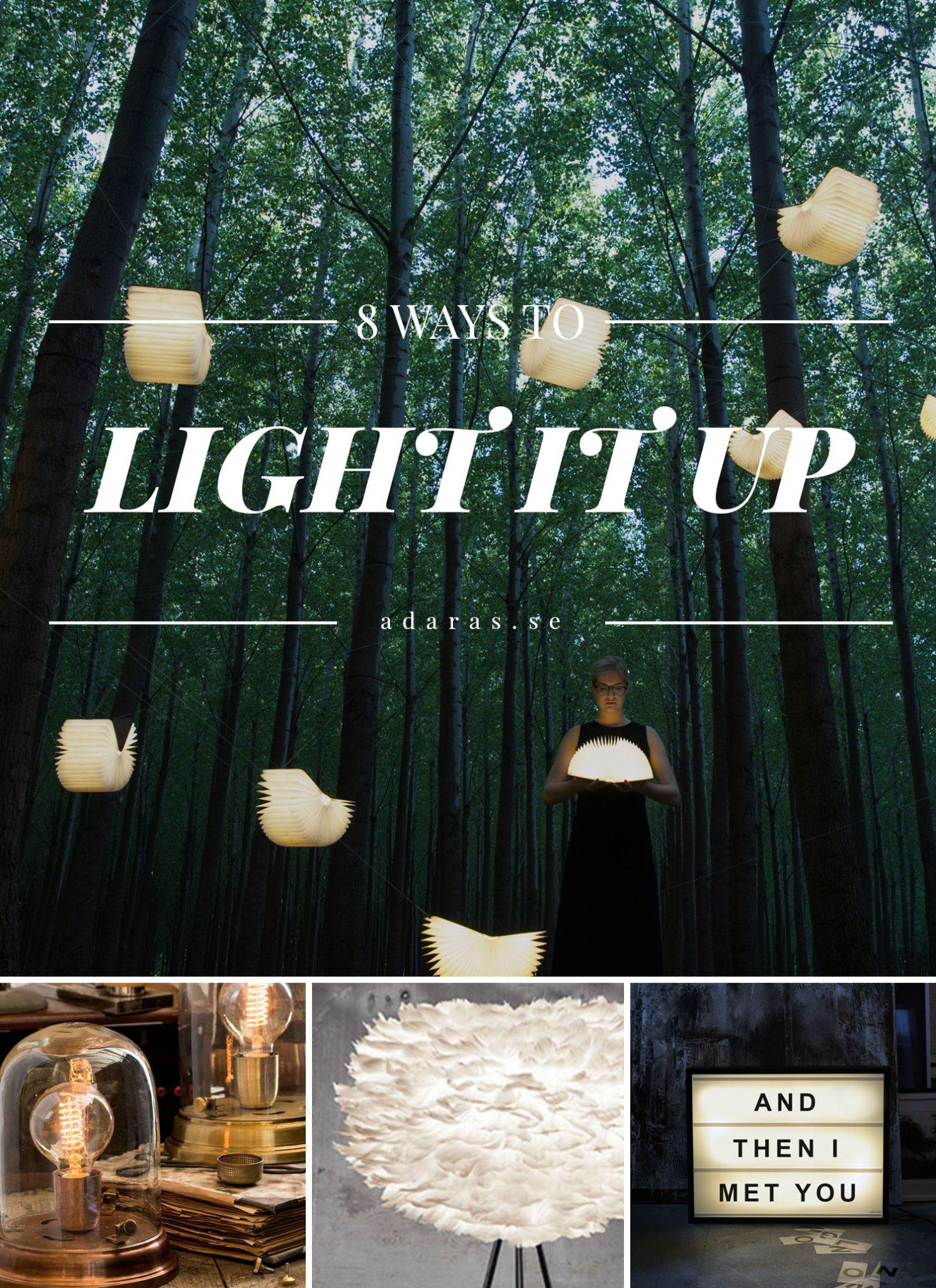Kollage med ljuskällor - Bright lamp ideas