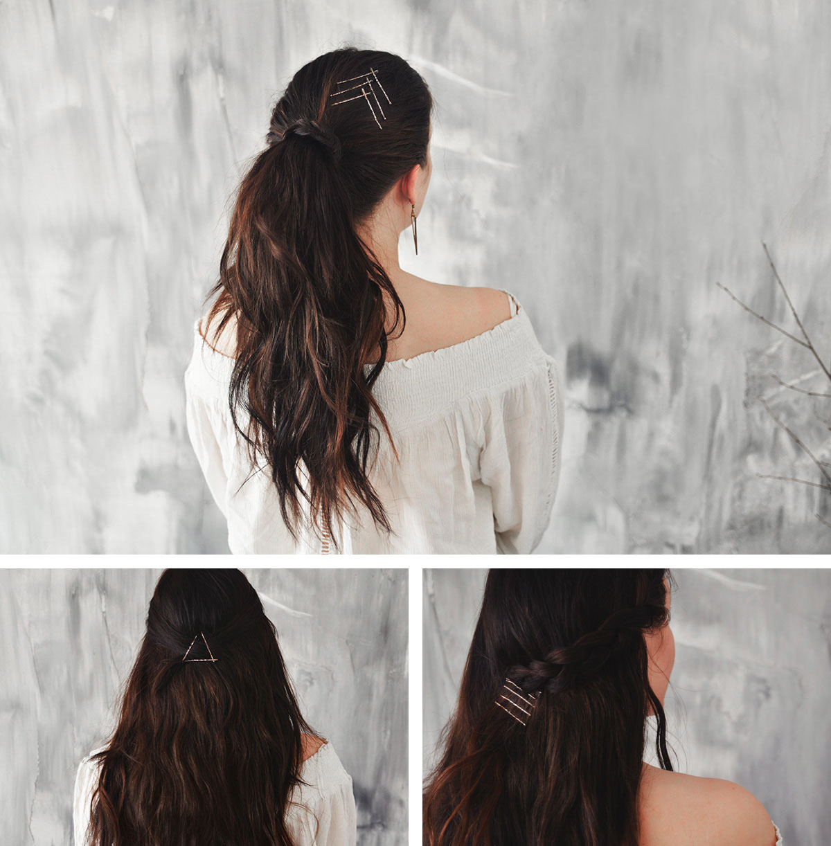 3 Easy Hairstyles with bobby pins