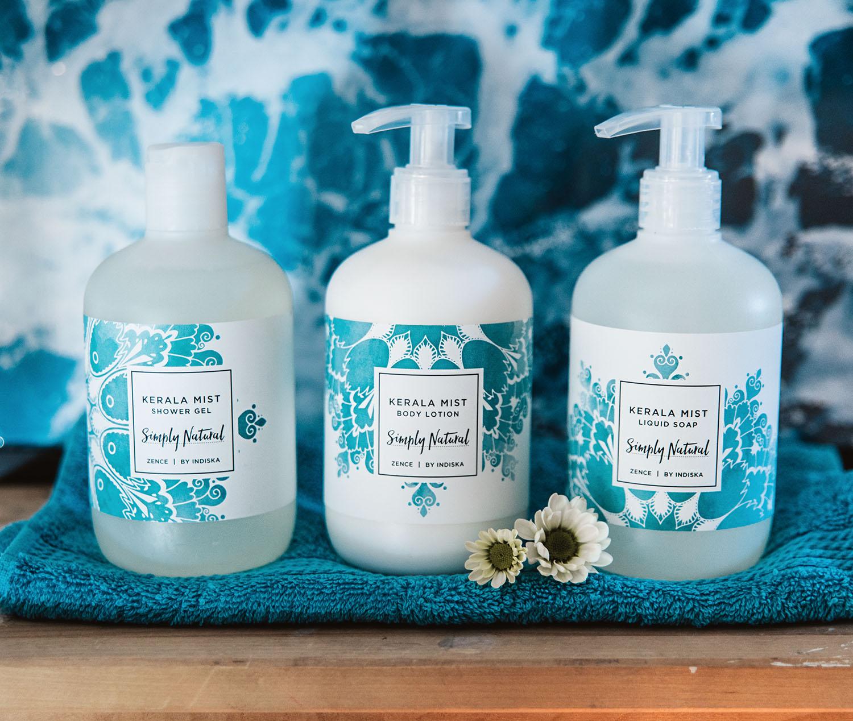 Kerala Mist Body lotion, Shower Gel & Hand Soap from Indiska