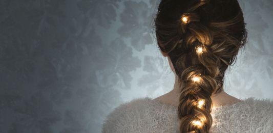 Light String in Braided Hair