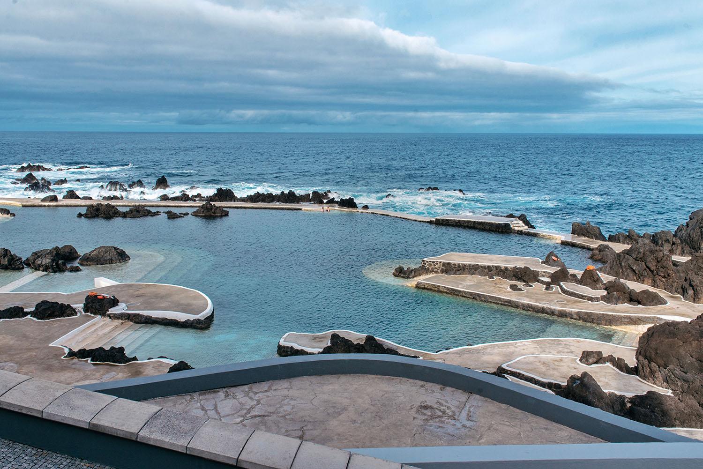 Porto Moniz Natural Swimming Pools in Madeira, Portugal