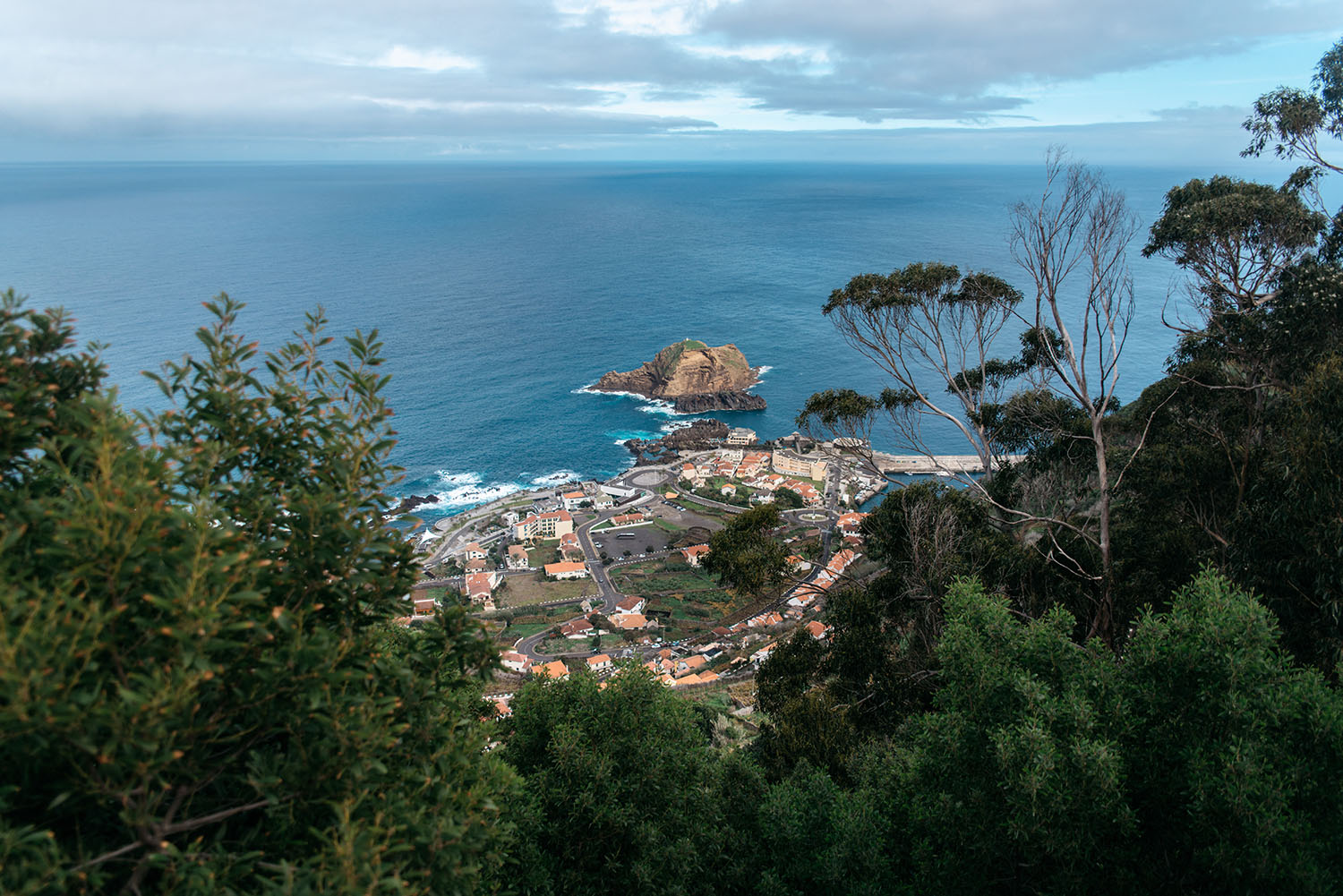 View over Porto Moniz in Madeira, Portugal