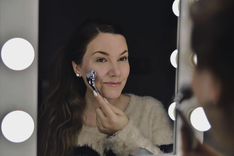 Woman using Skin Roller