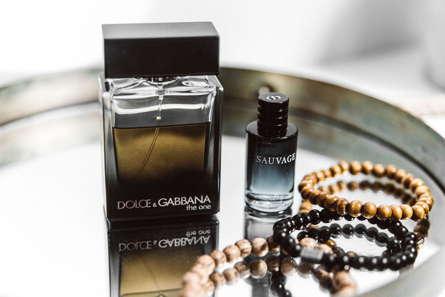 Fragrance for men: Dolce & Gabbana the One & Dior Sauvage