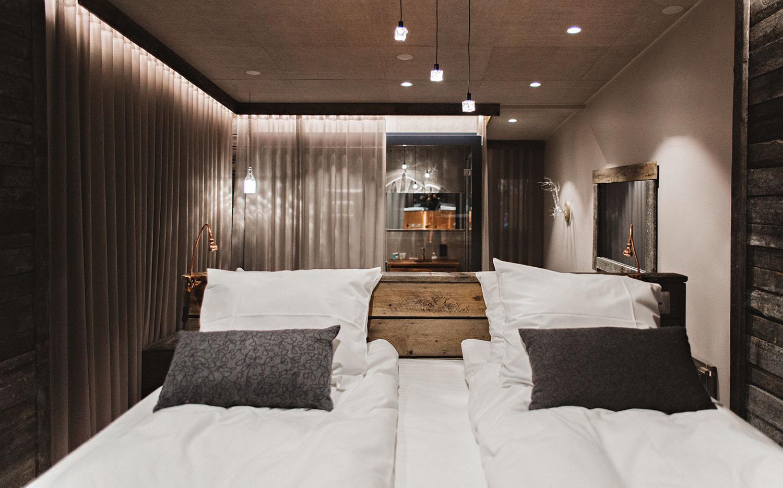 Lappish design in hotel room at Iso-Syöte Ski Resort
