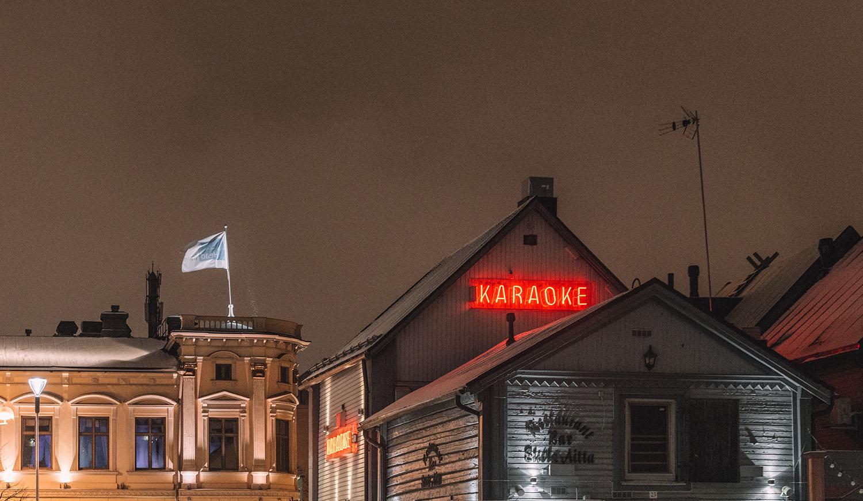 Karaoke place in Oulu, Finland