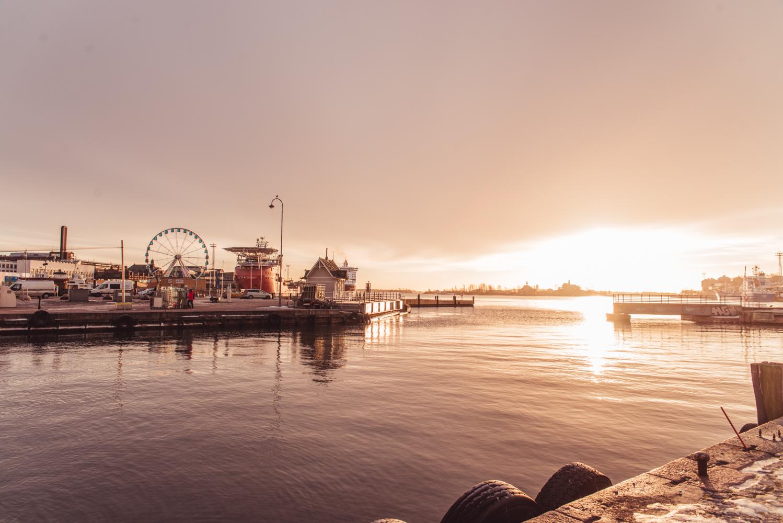 Salutorget, Sunrise in Helsinki, Finland