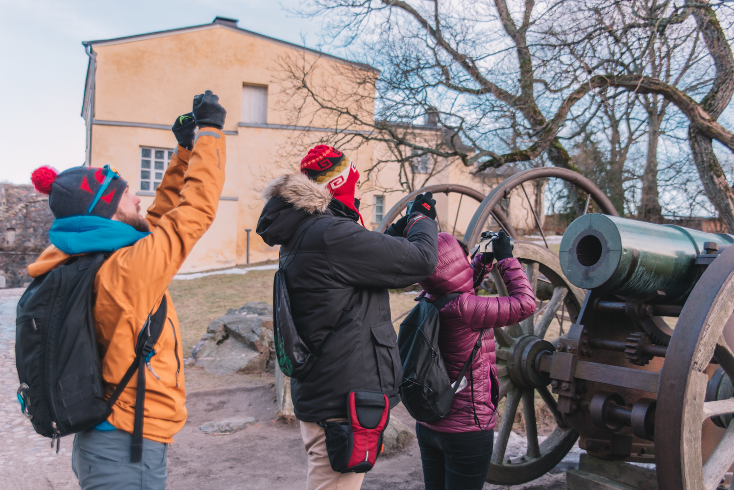 Travel Bloggers at Suomenlinna - NbeFinland