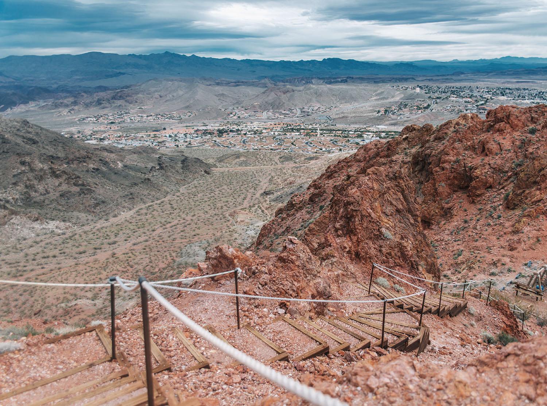 Beautiful view of Mojave Desert, Bootleg Canyon in Nevada