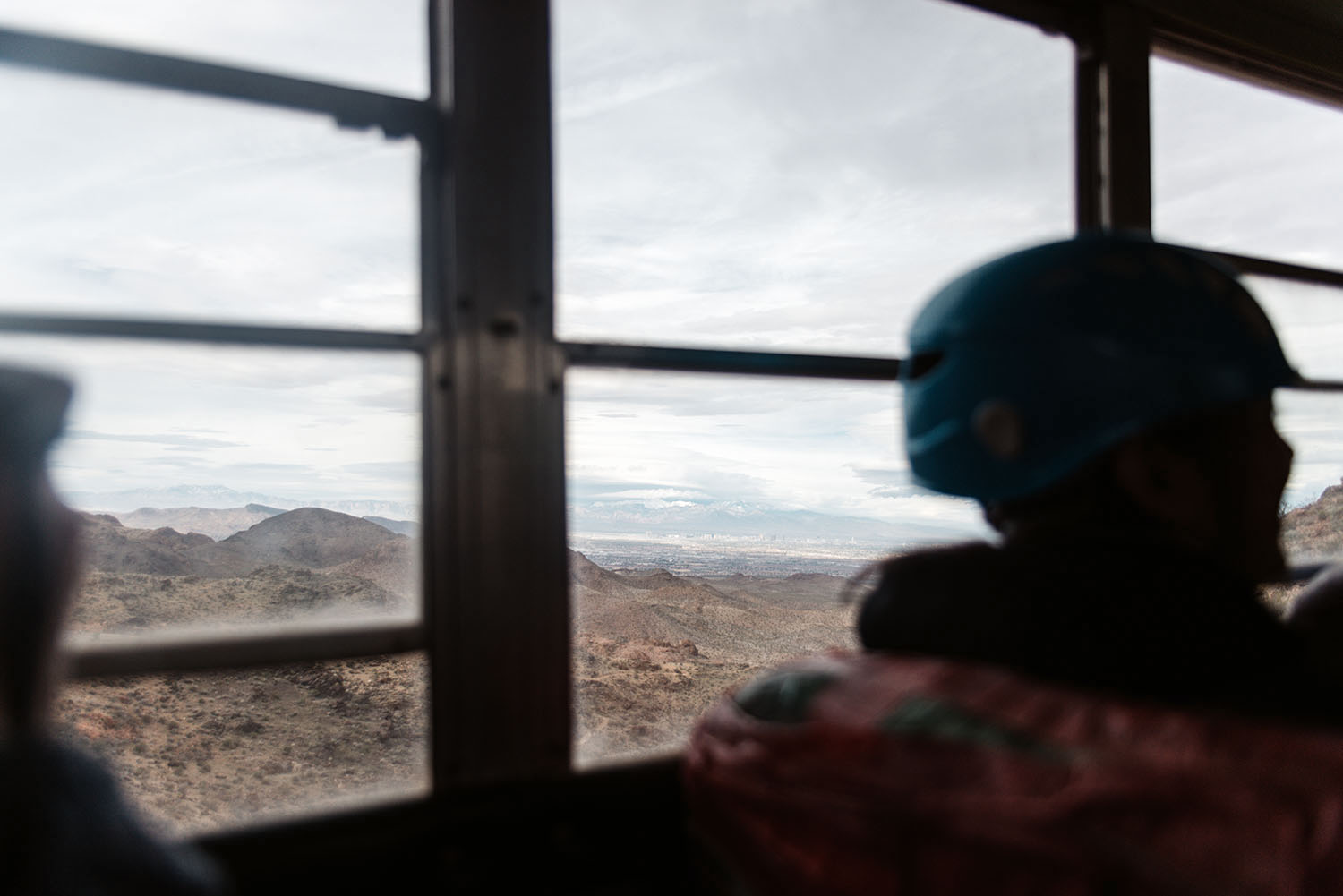 View over the Mojave Desert from Flightlinez bus