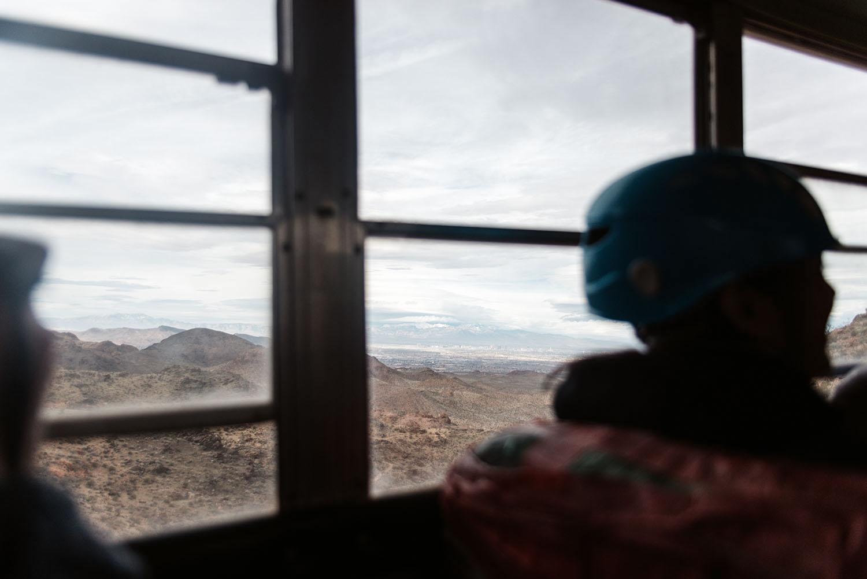 View over the Mojave Desert from Flightlinez bus