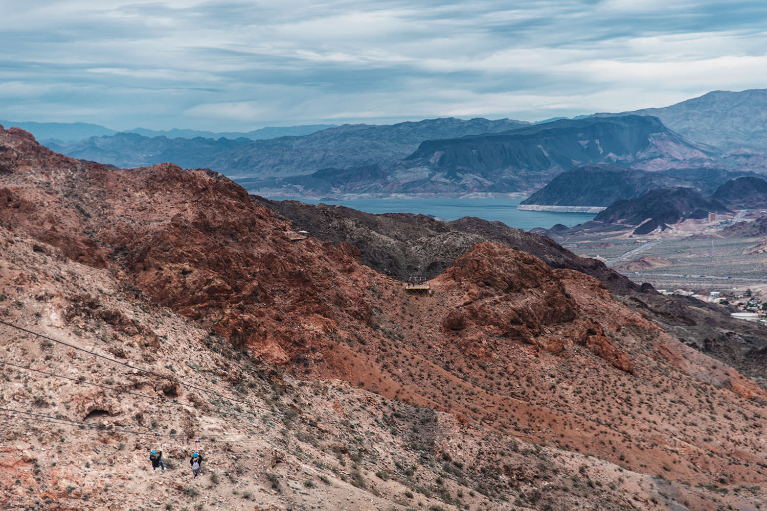 View of Bootleg Canyon and Lake Mead in Nevada