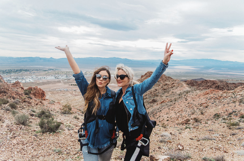 Zipline outside Las Vegas - Adaras & Julie Von Lyck