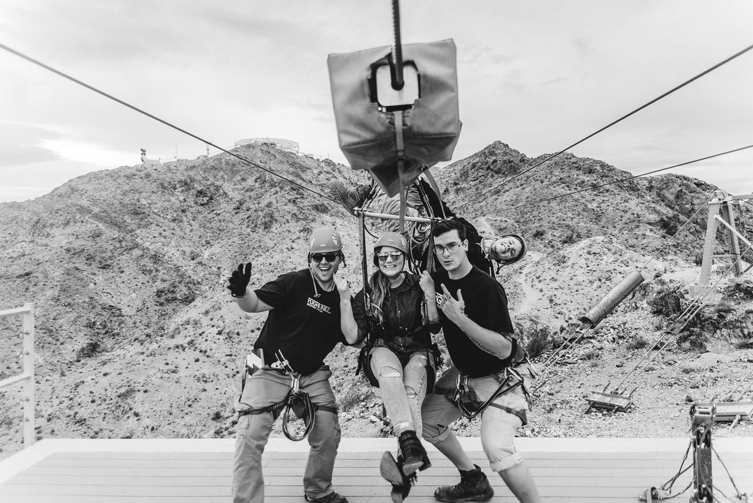 Flightlinez Tour Guides and Swedish Travel Blogger in Bootleg Canyon