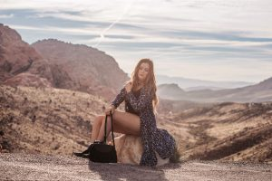 Boho Outfit in Red Rock Canyon Sunrise