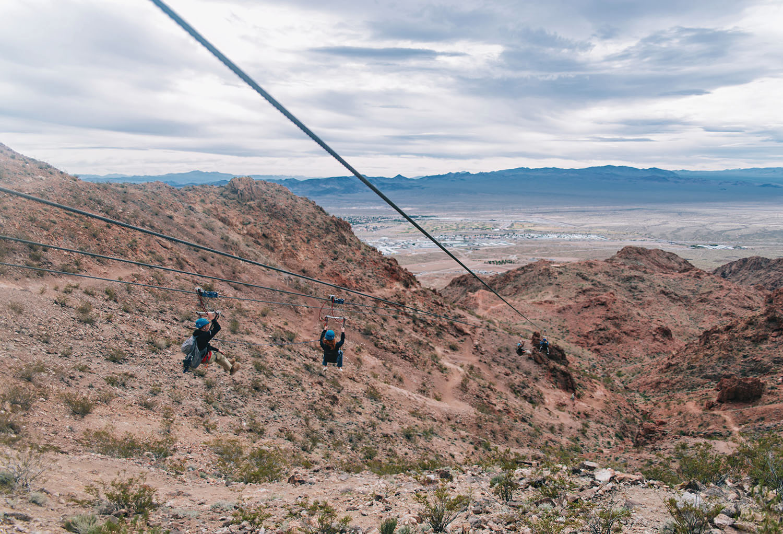 Las Vegas Adventures: Zipline over the Mojave Desert with Flightlinez
