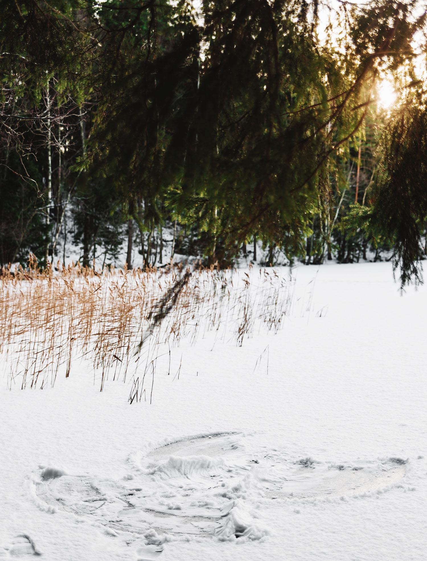 Snow angel in Kuusijärvi