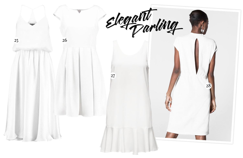 White Graduation Dresses - Vita studentklänningar
