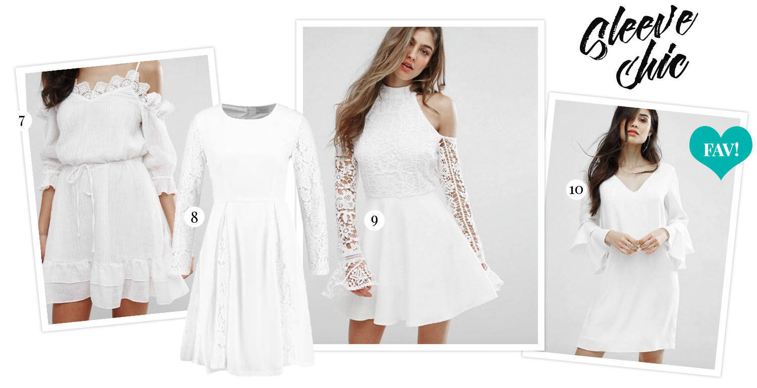 White Graduation Dresses with long sleeves - Hitta din perfekta studentklänning