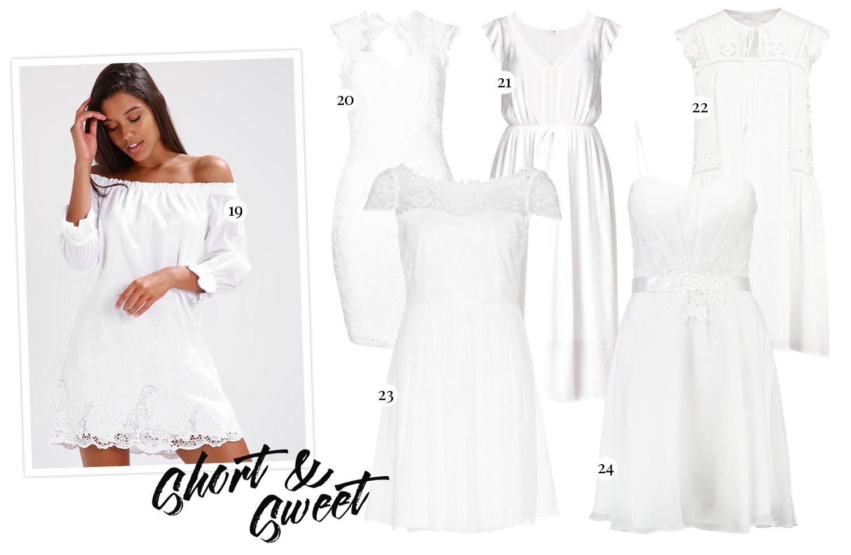 White Short Graduation Dresses - Hitta din perfekta Studentklänning