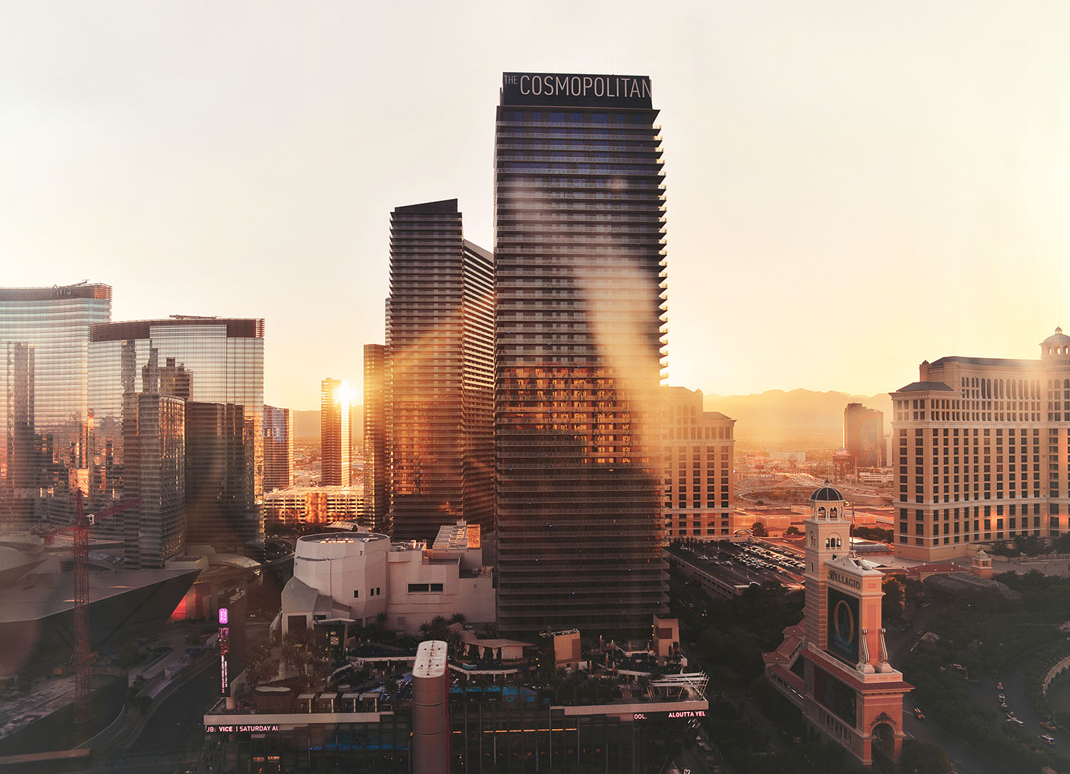 Las Vegas Sunset - View from Planet Hollywood