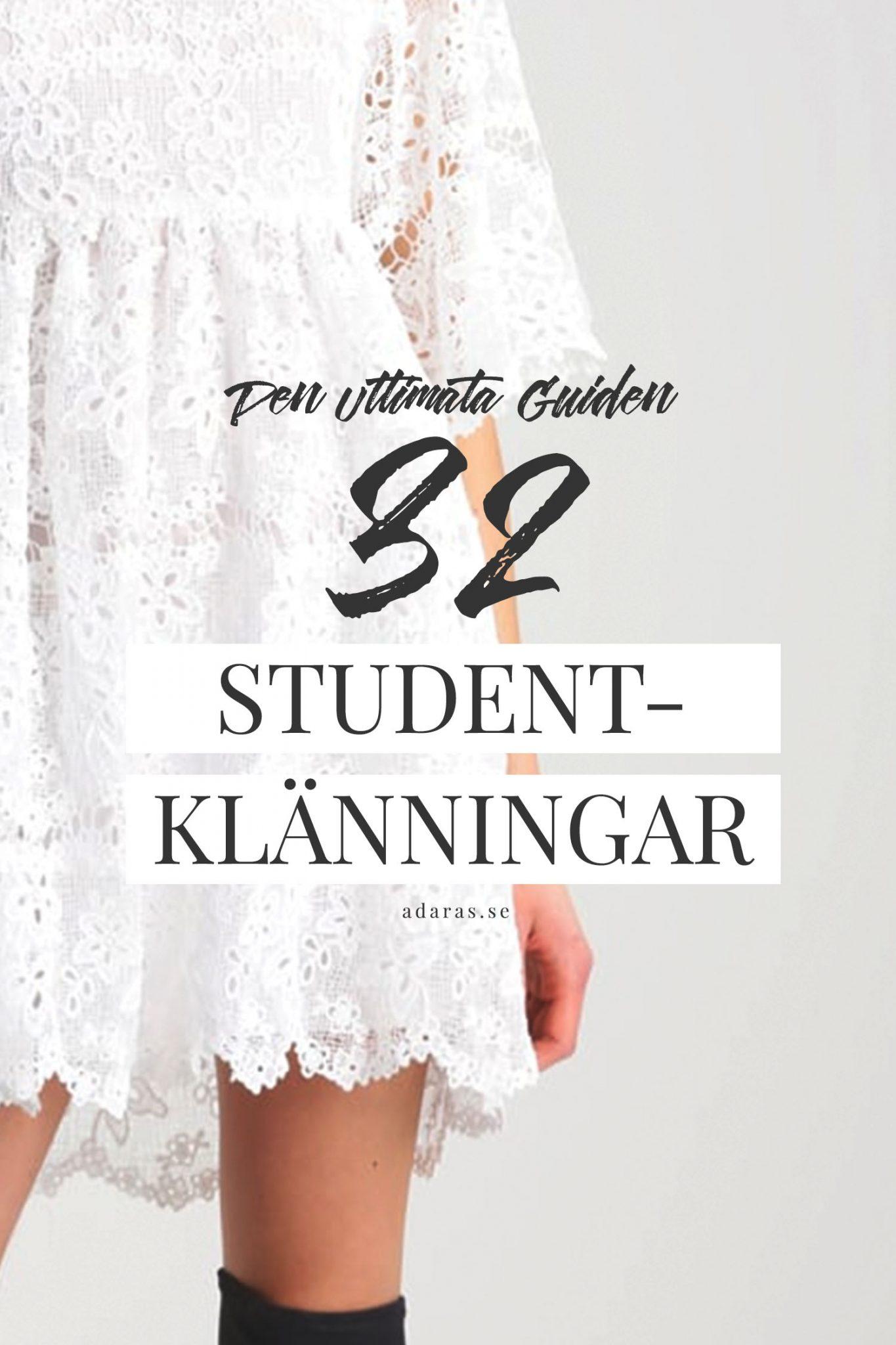 Hitta din perfekta studentklänning - Guide till 32 snygga vita klänningar