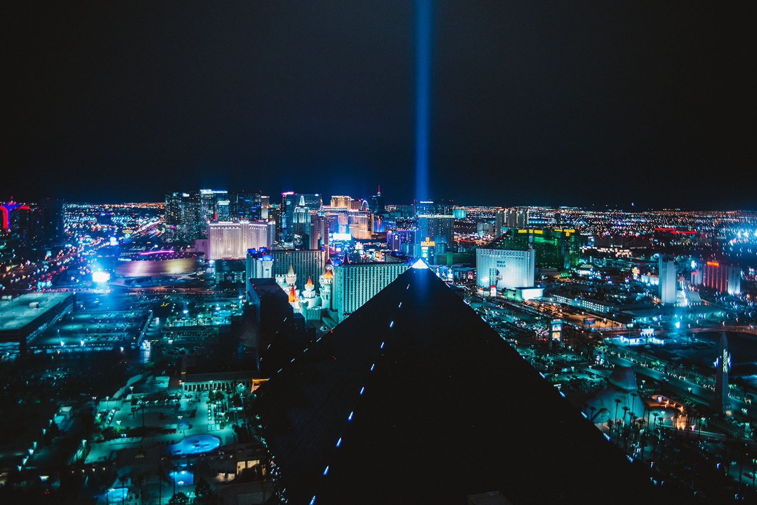 View from Skyfall Lounge in Las Vegas