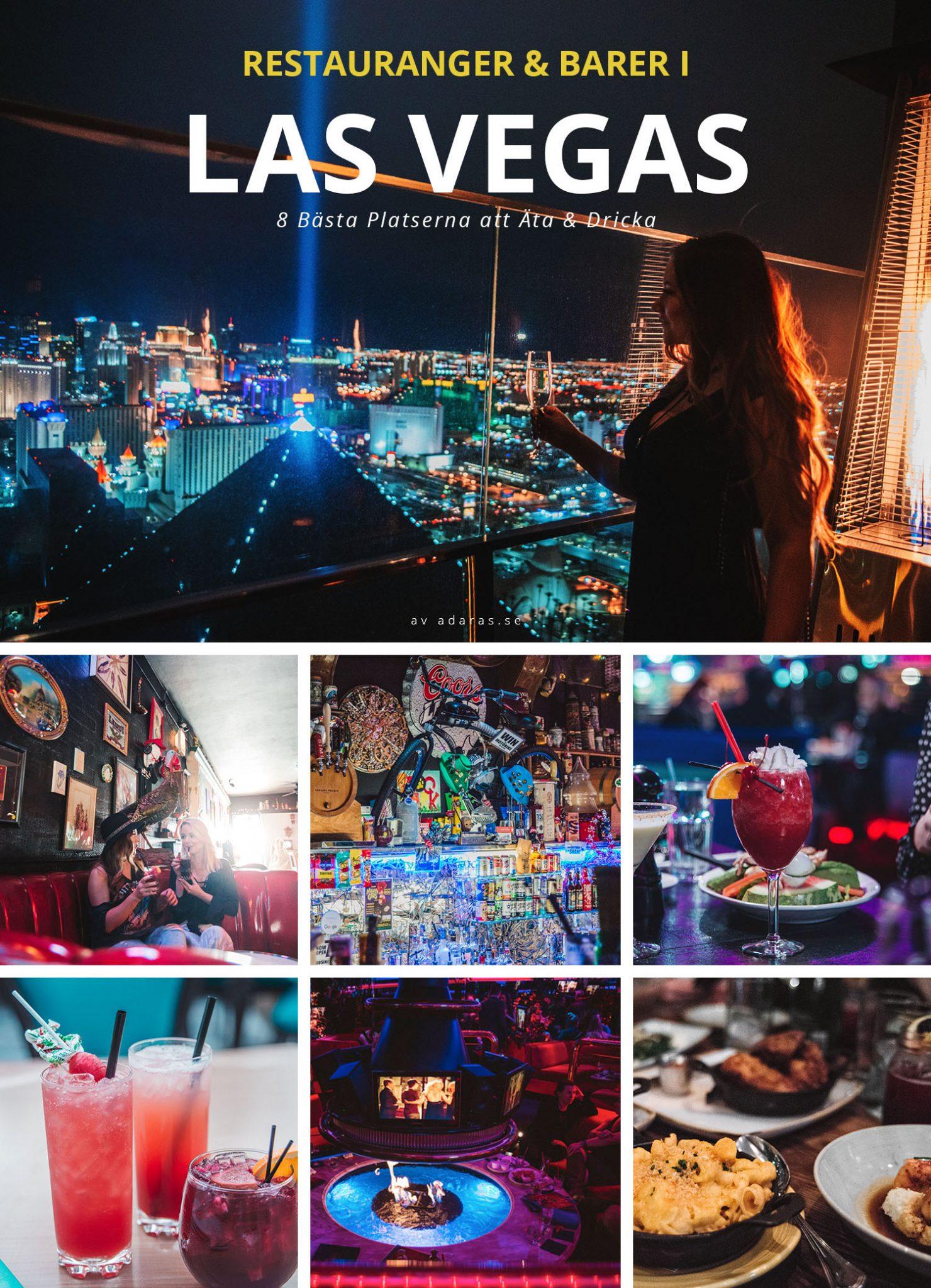 Bästa Barerna & Restaurangerna i Las Vegas - Guide till prisvärda WOW-platser att Äta & Dricka i Vegas