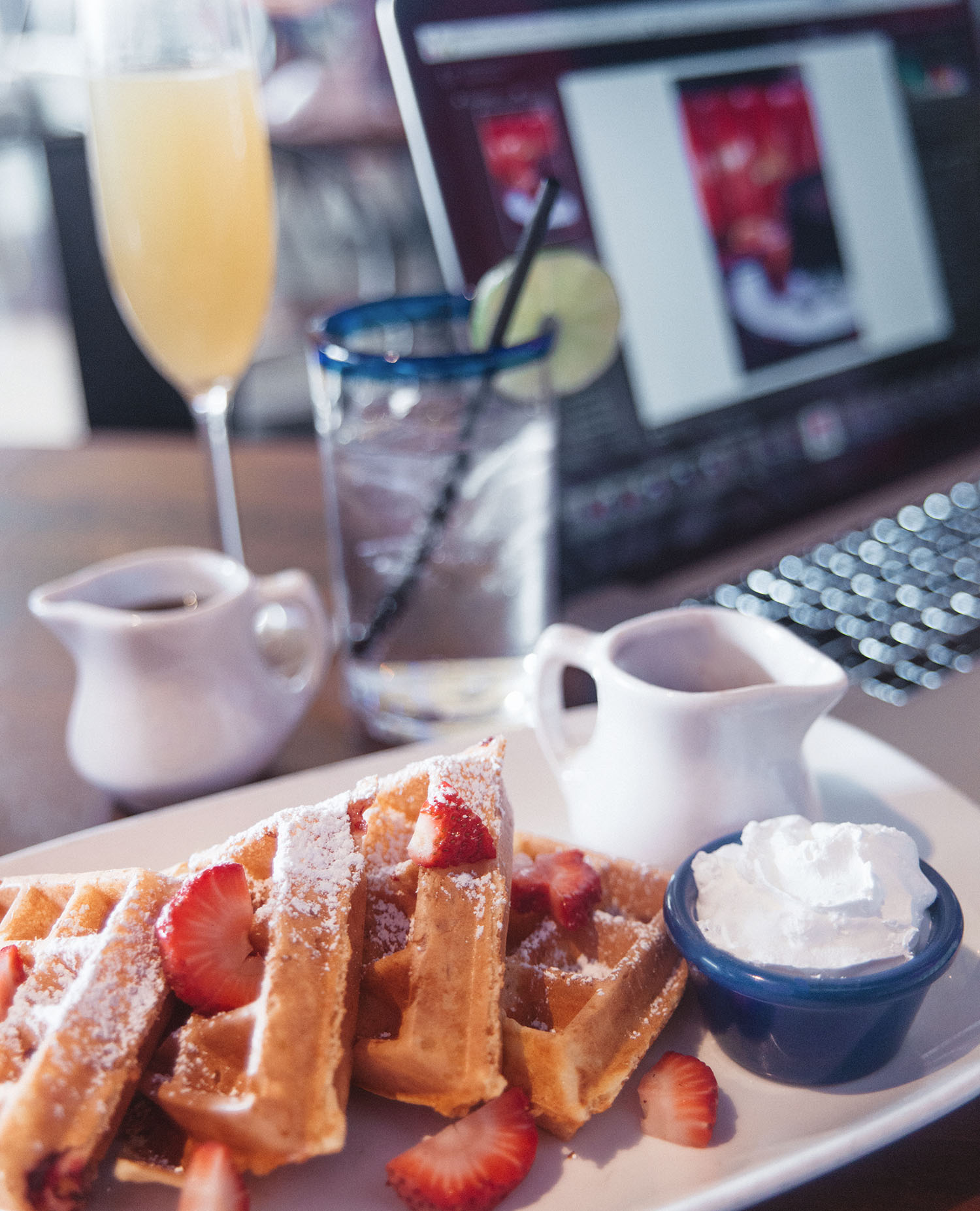 Waffles at Mexican Cabo Wabo in Las Vegas