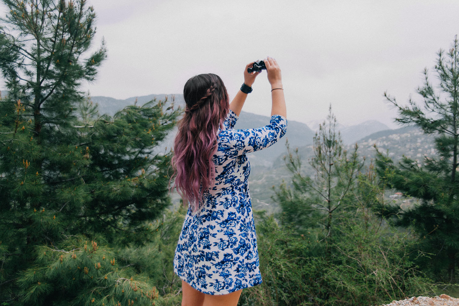 Purple balayage & #Colorfulhair with L'Oreal Professionnel