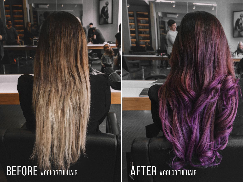 loreal lila hårfärg