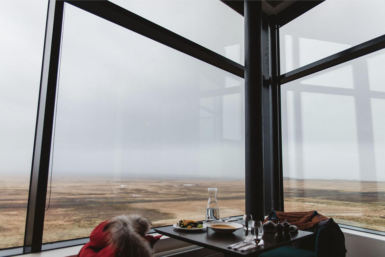 Lunch in Fosshotel Glacier Lagoon, Hnappavellir