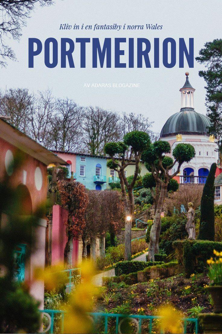 Portmeirion: En förtrollande fantasiby i norra Wales - full av överraskningar!