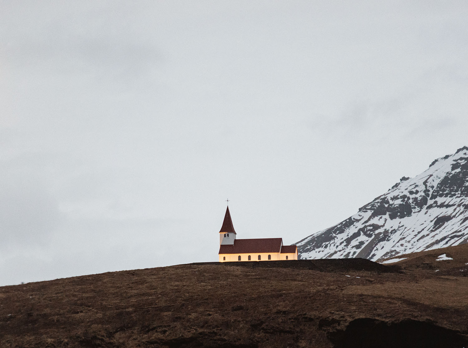 Vik Church in Iceland