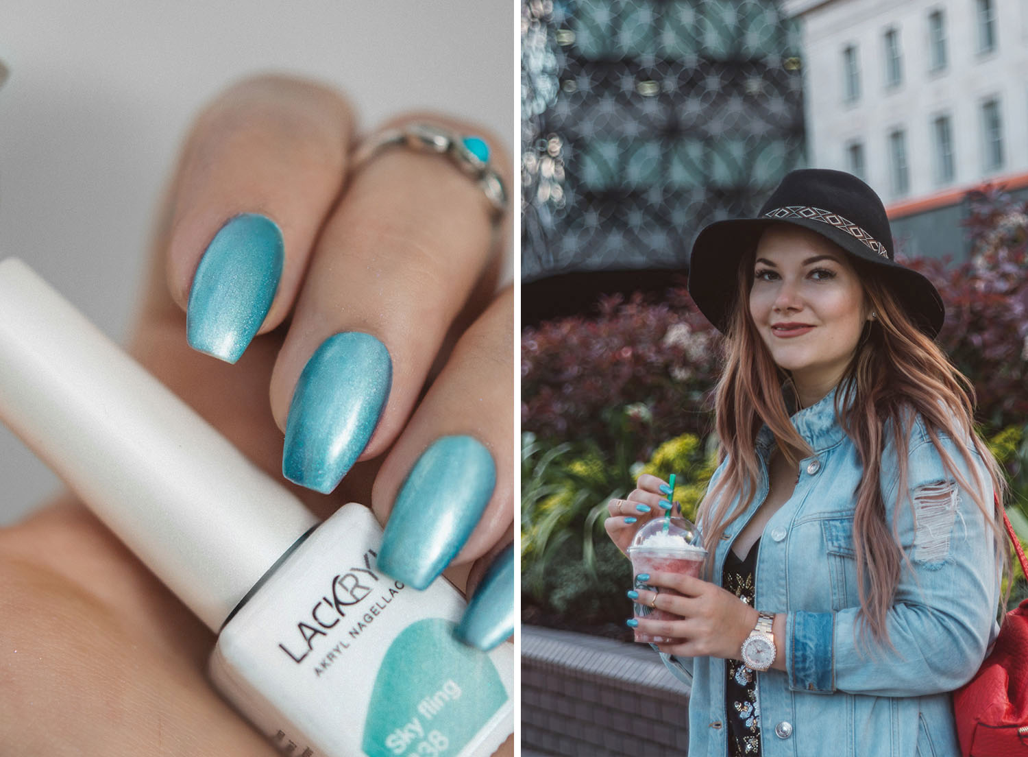 Lackryl Sky Fling Turquoise Nails
