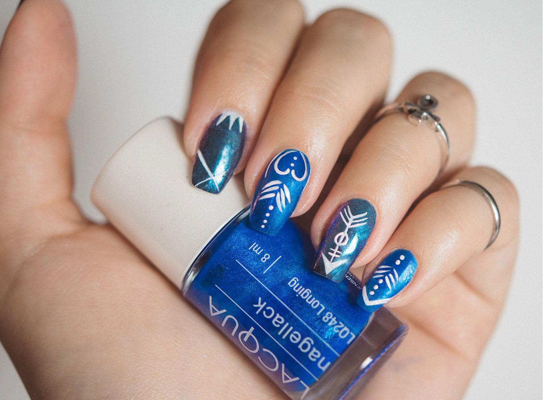 Blue Lachrome & Lacqua Longing Blue Manicure