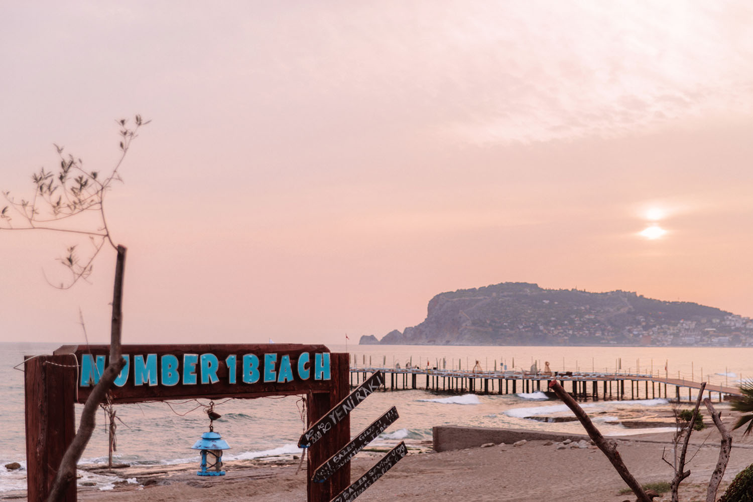 Sunset at Number 1 Beach in Alanya