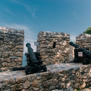 Old cannon - at the Castle of Alanya, Turkey