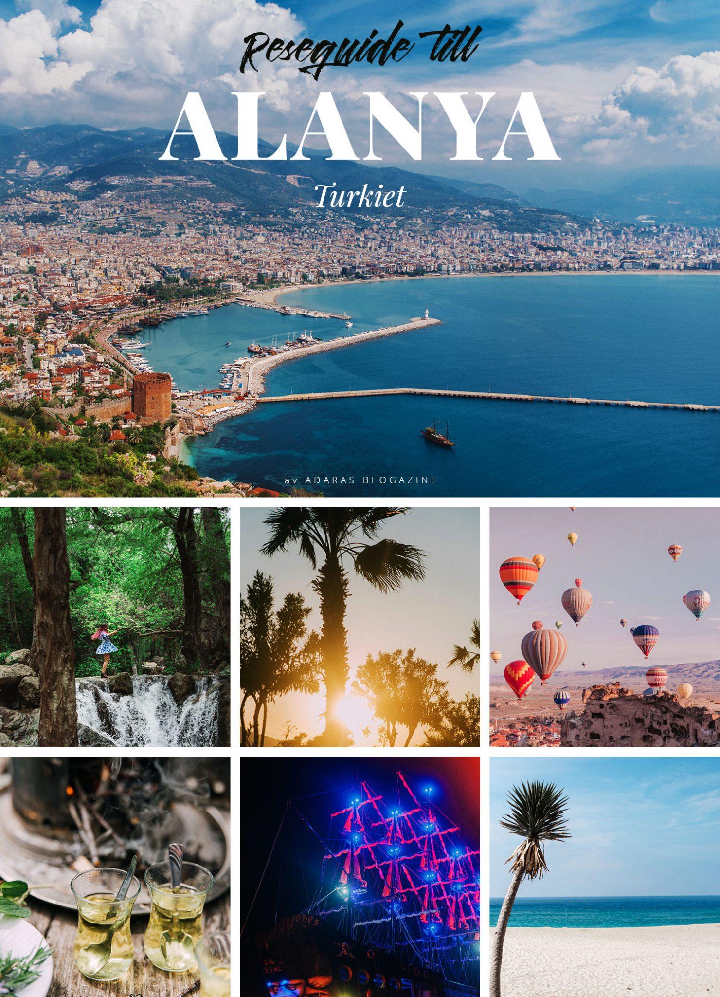 Guide till Alanya i Turkiet - Sevärdheter & Äventry  ADARAS reseguide
