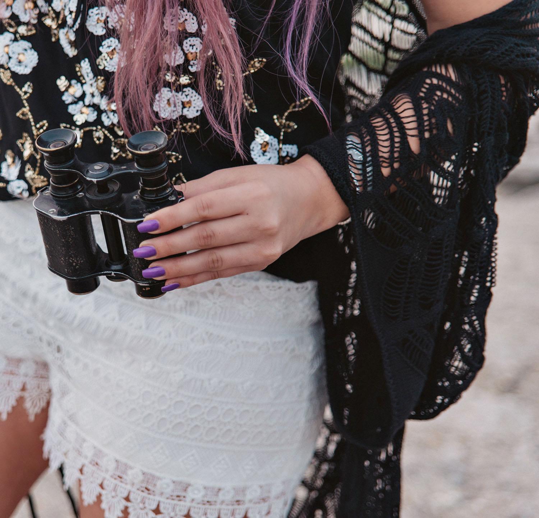 Lackryl Just Tell Purple Nails