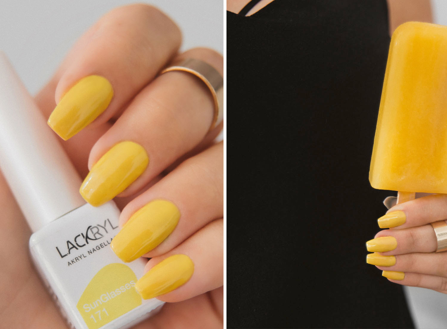 Lackryl Sunglasses - Yellow Nails