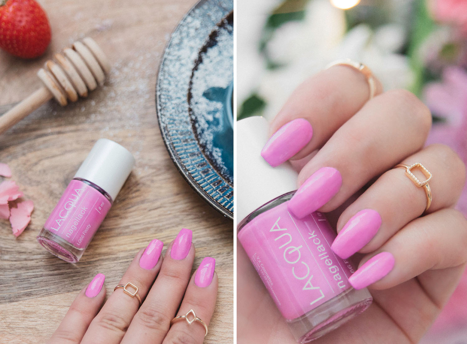 L.Y.X Cosmetics Lacqua Fiesty - Pink Nails