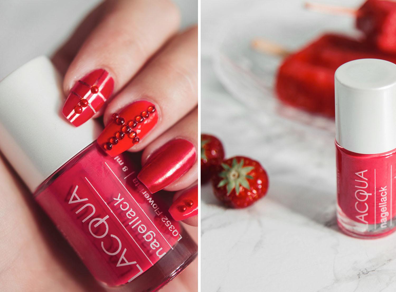 Lacqua Flowerista Red Nail Design